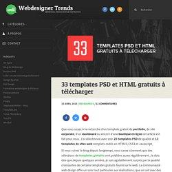 33 templates PSD et HTML gratuits à télécharger