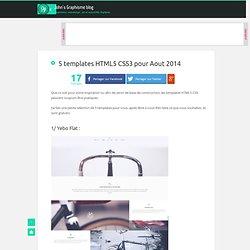 5 templates HTML5 CSS3 pour Aout 2014