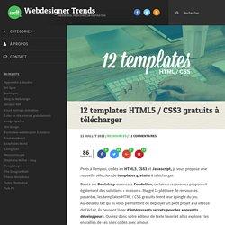 12 templates HTML5 / CSS3 à télécharger