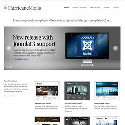 Hurricane Media | Free High Quality Joomla Templates