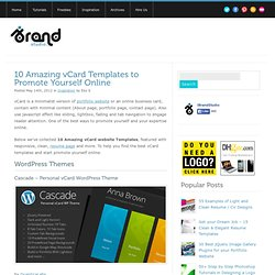 10 Amazing vCard Templates to Promote Yourself Online