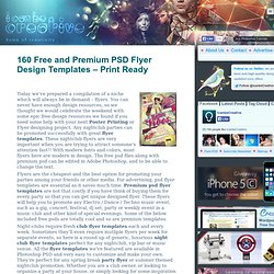 160 Free and Premium PSD Flyer Design Templates – Print Ready