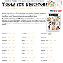 Free Bingo Board Maker, bingo board templates with images or text, customizable bingo boards to print