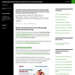 Landing page design templates example for your marketing campaign