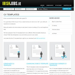 CV Templates - IrishJobs Career Advice
