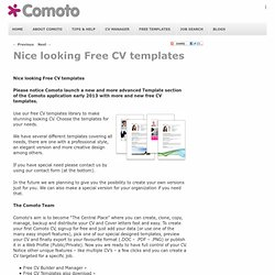 Nice looking CV templates | Comoto
