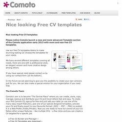 Nice looking CV templates | Comoto