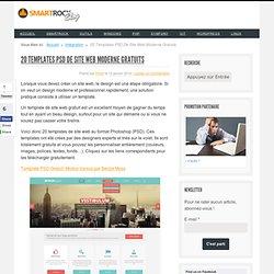 20 Templates PSD De Site Web Modernes Gratuits