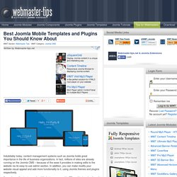 Best Joomla Mobile Templates and Plugins You Should Know About