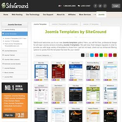 Joomla Templates Gallery by SiteGround | NEW: Joomla 2.5 Templates