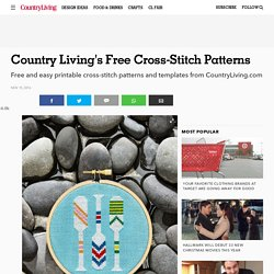 Free Cross-Stitch Templates - Printable Cross Stitch Patterns