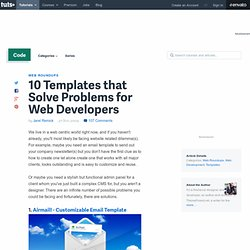 10 Templates that Solve Problems for Web Developers