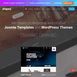 Joomla Templates, Wordpress Themes - Professional Joomla Templates Club - Shape 5