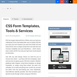 CSS Form Templates, Tools & Services