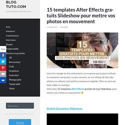 15 templates After Effects gratuits Slideshow pour mettre vos photos en mouvement