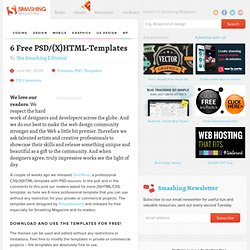 6 Free PSD/(X)HTML-Templates | Freebies