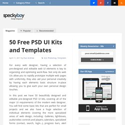 50 Free PSD UI Kits and Templates for Web Designers