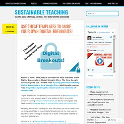 Use These Templates to Make Your Own Digital Breakouts! – Sustainable Teaching
