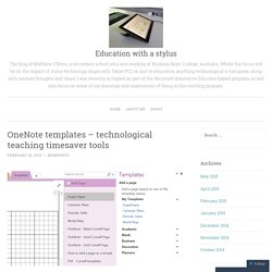 OneNote templates – technological teaching timesaver tools