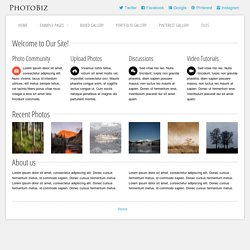 Demo of the HTML CSS Template PhotoBiz