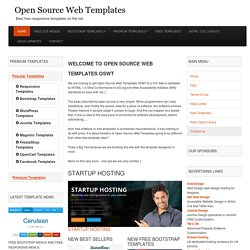 Open Source Web Templates Free Xhtml Css Templates by Web Designers