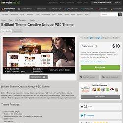 PSD Templates - Brilliant Theme Creative Unique PSD Theme