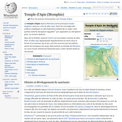 Temple d'Apis (Memphis)