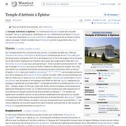 Temple d'Artémis à Éphèse