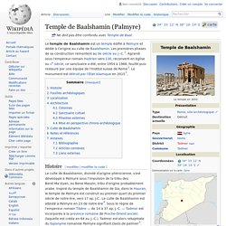 Temple de Baalshamin (Palmyre)