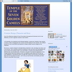 Temple of the Seven Golden Camels: Costume Design, Character and Story