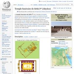 Temple funéraire de Séthi Ier (Abydos)