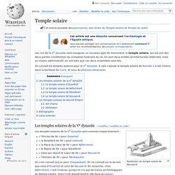 Temple solaire
