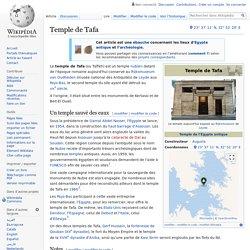 Temple de Tafa