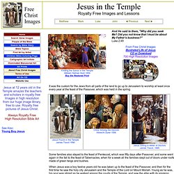 Jesus In The Temple with Teachers Royalty Free Images
