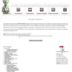 Liste des temples égyptiens - Le Temple Egyptien