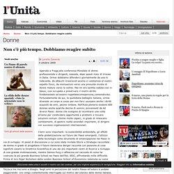 Non c'è più tempo - l'Unità - 9 ottobre 2009