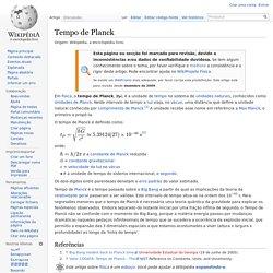 Tempo de Planck