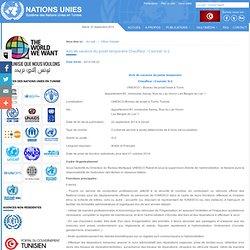 Avis de vacance du poste temporaire Chauffeur / Coursier G-2 - Offres d'emploi - Système des nations unies en Tunisie
