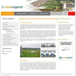 Stockage des eaux, rétention (stockage) temporaire eaux pluviales : Ecovegetal