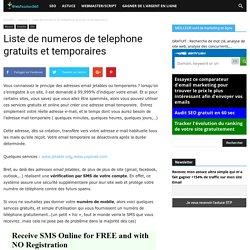 ♦️ Liste de numeros de telephone gratuits et temporaires