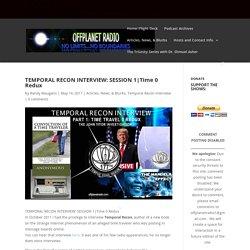 TEMPORAL RECON INTERVIEW: SESSION 1