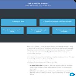 Gérer les temporalités en formation – La Digital Learning Academy