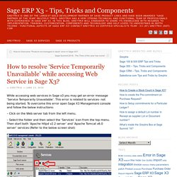 How to resolve 'Service Temporarily Unavailable' while accessing Web Service in Sage X3?