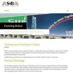 Temporary Site Fencing Dubai