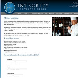 Alcohol License NYC