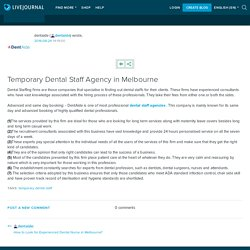 Temporary Dental Staff Agency in Melbourne : dentaide