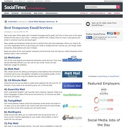 Best Temporary Email Services