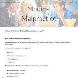 Denver Temporary Staffing - medical-malpractice