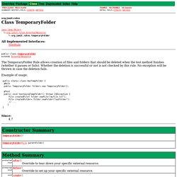 TemporaryFolder (JUnit API)