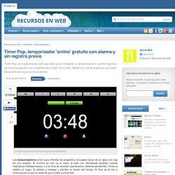 Timer Pop, temporizador 'online' gratuito con alarma y sin registro previo